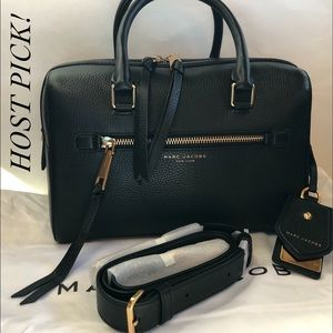 🌺 Gorgeous Marc Jacobs Black Leather Tote Bag